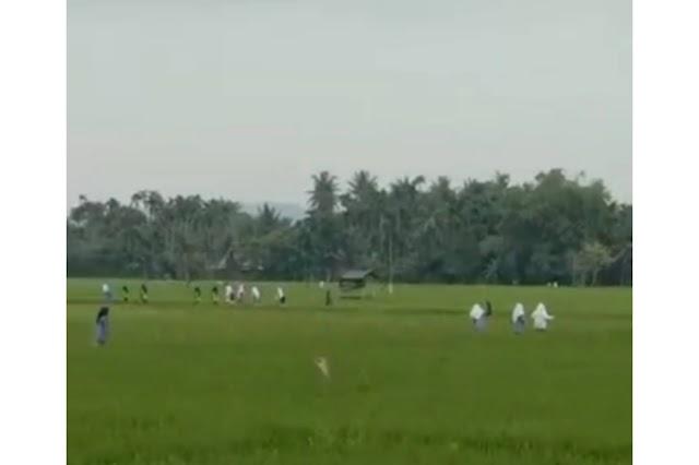 Viral! Diduga Takut di Vaksin, Siswa di Aceh Lari Terbirit-birit ke Sawah