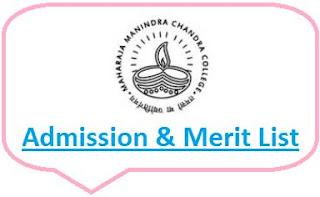 Maharaja Manindra Chandra College Merit List