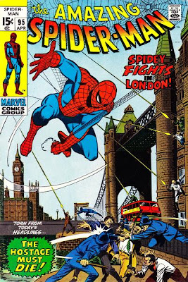 Amazing Spider-Man #95, Spidey goes to London