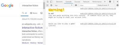 L'Oeuf de Pâques de Google Interactive Fiction