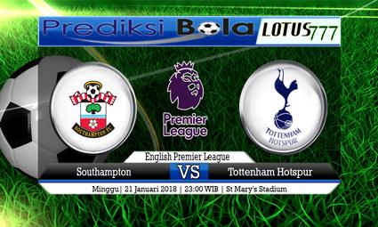 PREDIKSI SKOR Southampton vs Tottenham Hotspur 21 Januari 2018