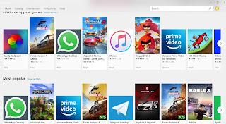 Microsoft App Store Search Bar in Hindi