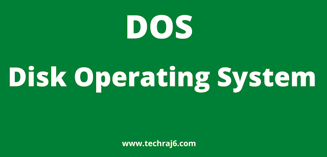 DOS full form, what is the full form of DOS
