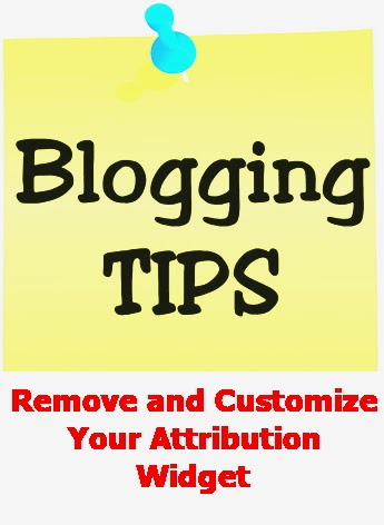 How to change And Customize Your Attribution On Blogger