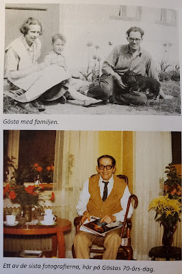 Top: Gösta and his family [likely wife and son]   Bottom: One of the last photographs, here at Gösta's  70th birthday  (Olsson & Jonason -  Gösta Caroli: Dubbelagent Summer)