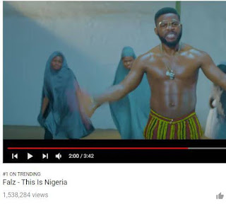 """Falz's This is Nigeria Video hits over 1.5m views"""