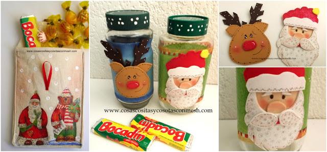 reciclaje-frascos-vidrio-navidad-dulceros
