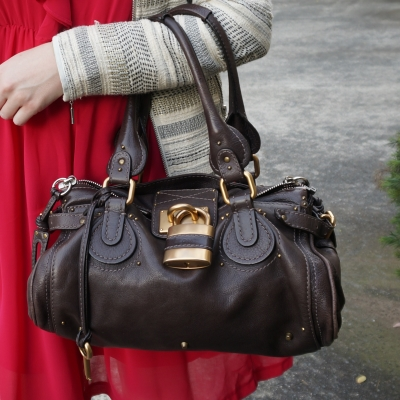 Chloe paddington gold hardware padlock bag in Brun chocolate brown 2007 | AwayFromTheBlue