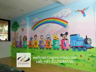 KIDS SCHOOL CLASSROOM WALL MURALS ANDHERI / SANTAKRUZ / VILE PARLE