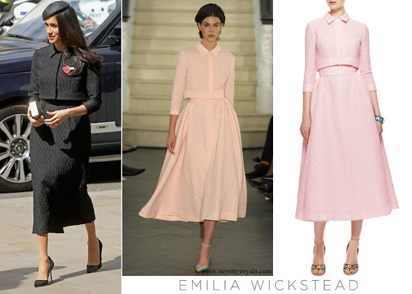 Meghan Markle wore Emilia Wickstead Christian Textured Crepe Gown