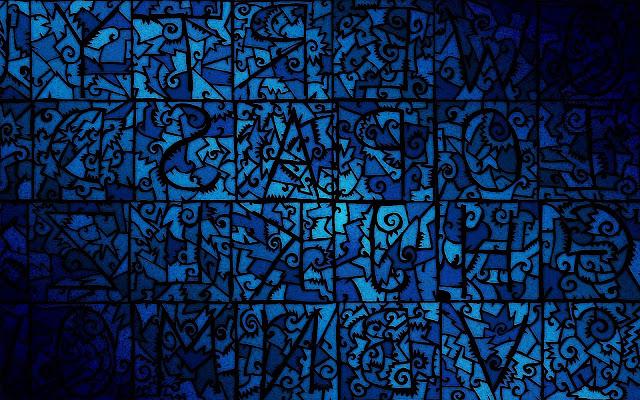 Leuke achtergrond met blauwe figuren