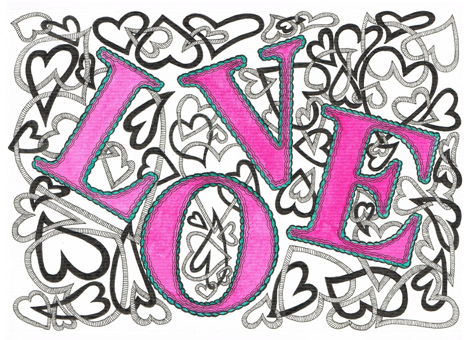 Creative Doodling With Judy West Valentines Day