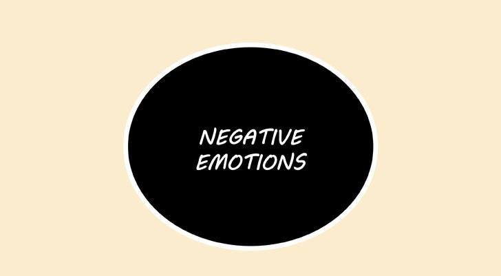 Manga emosi negatif menggelembung