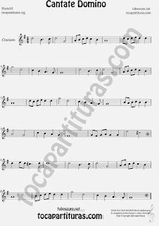 Cantate Domino  Partitura de Clarinete Sheet Music for Clarinet Music Score