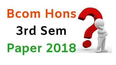 Mdu BCom Hons 3rd Sem Question Papers 2018