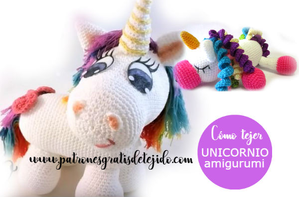 Pequeño Bebe Unicornio o Pegaso Amigurumi tejido a Crochet - YouTube | 395x600