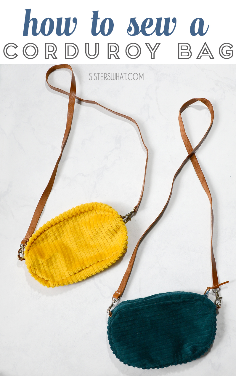 how to sew a corduroy bag