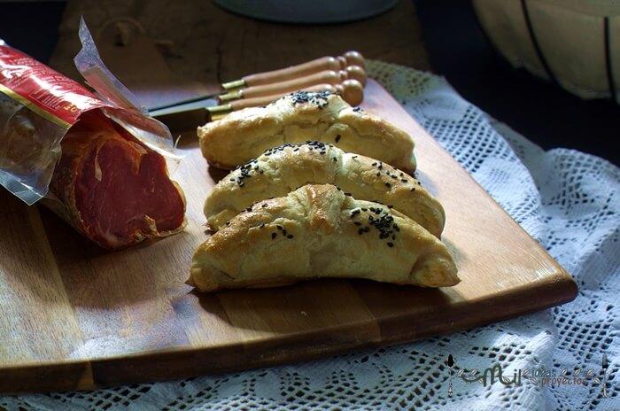 receta de croissants rellenos de lomo de bellota y queso