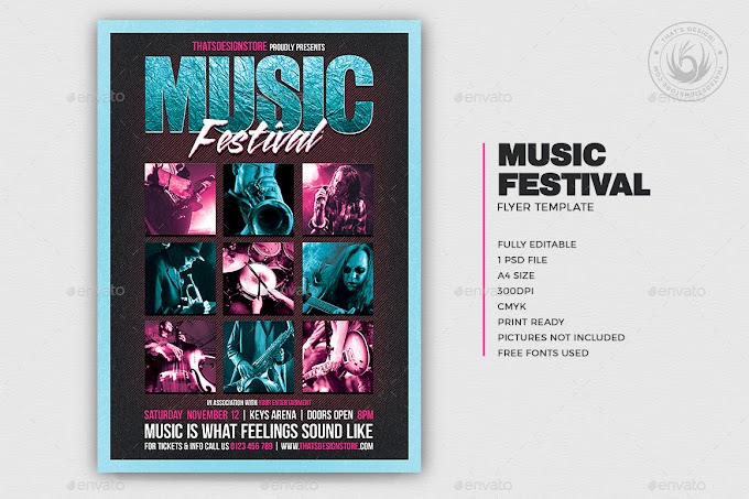 Music Festival Flyer Template V4[Photoshop][11324450]
