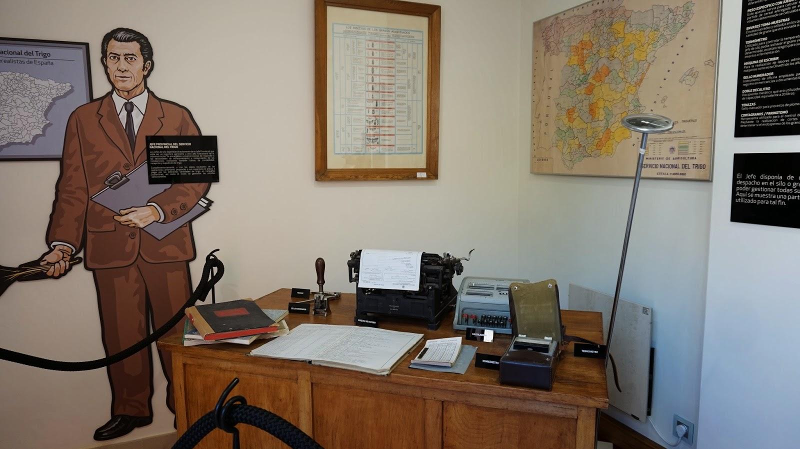 Antigua oficina en el castillo de Arévalo