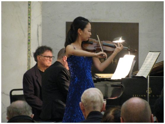 Naria Kim and Evan Solomon - Dame Myra Hess Memorial Concerts - Photo by Tom Bowser