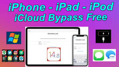 Windows iOS14.8 Untethered iCloud Bypass Free 2021 iCloud Tool Fix Battry Drain-Notifications & Bank apps.