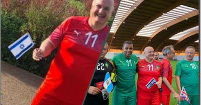 مسؤول مكتب الاتصال الاسرائيلي يشارك في مباراة كرة القدم شارك فيها لقجع و قدماء المنتخب ومجموعة من السفراء بالمغرب