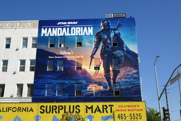 Giant Star Wars Mandalorian season 2 billboard