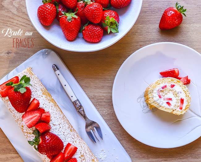 biscuit roulé fraises