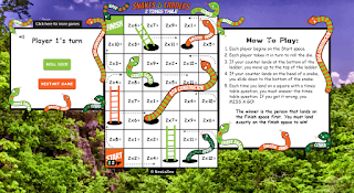 Play Snakes and Ladders multiplication Game Online Now!