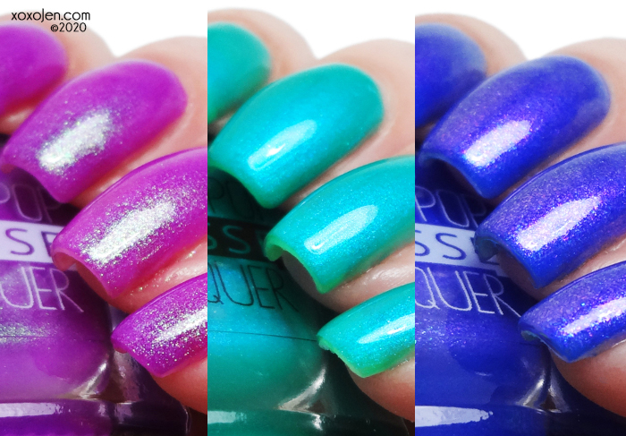 xoxoJen's swatch of Lollipop Possse What We Do in the Shadows Trio
