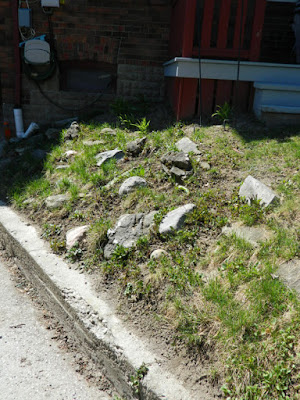 New Toronto Forest Hill rock garden before by Paul Jung Gardening Services