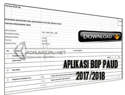 Format RKAS BOP PAUD Tahun Pelajaran 2017/2018