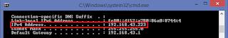 ip address pada command prompt
