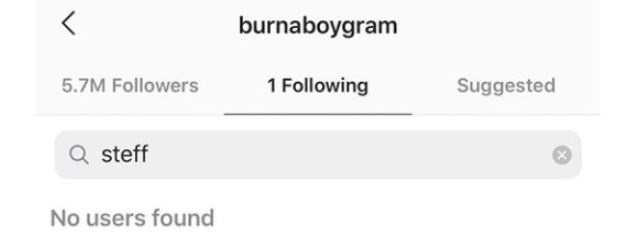 Trouble? Burna Boy And Finance Unfollow Each Other In Instagram