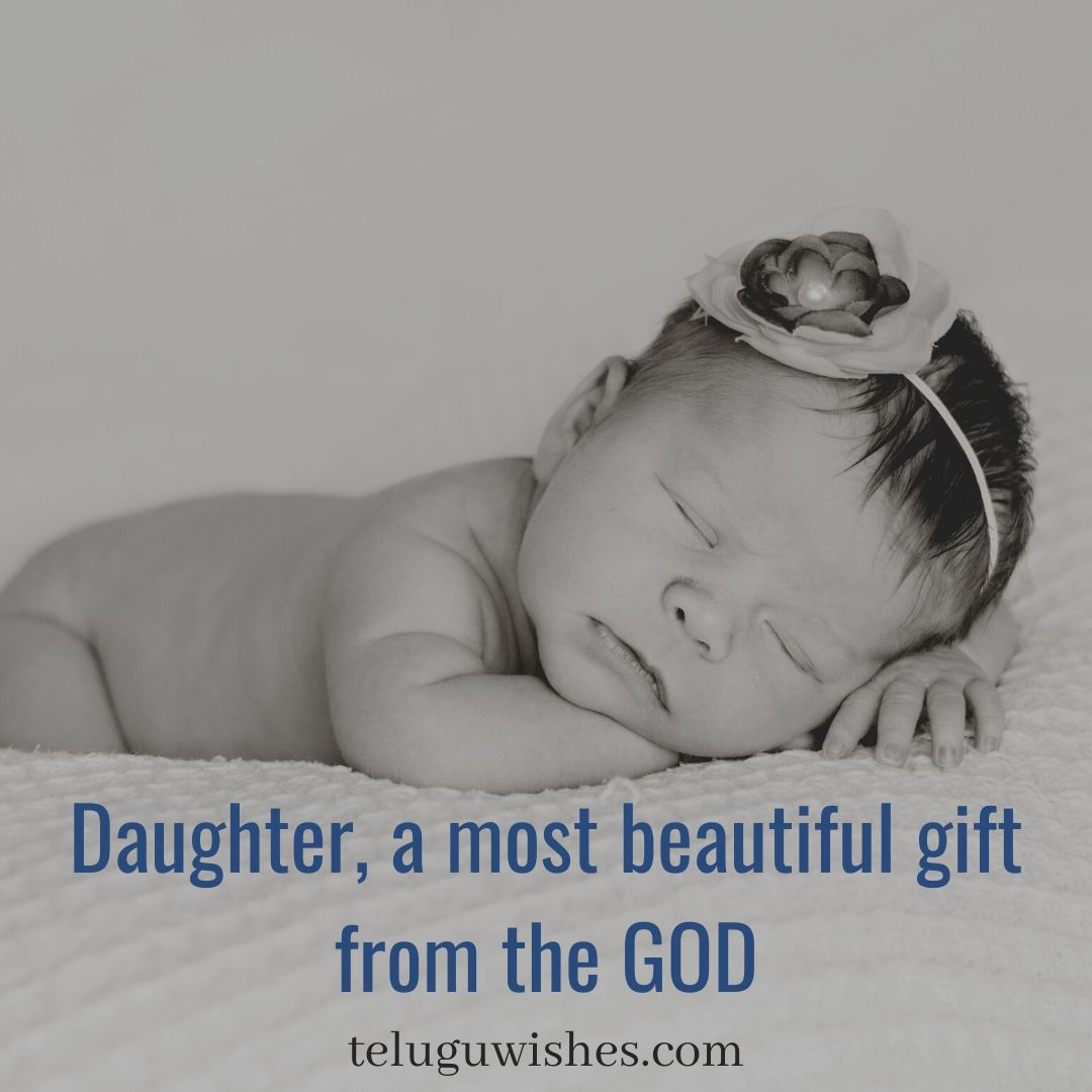 daughters are most beautiful gift from the God- Save Girl child slogans