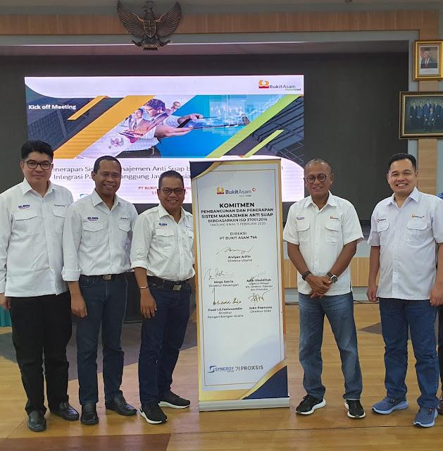 PT.Bukit Asam Terapkan Manajemen Anti Suap ISO 37001:2016 recruitment bukit asam
