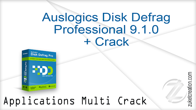 Auslogics Disk Defrag Professional 9.1.0 + Crack