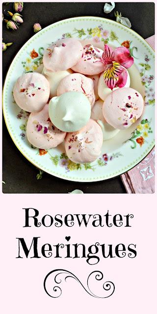 Rosewater Meringues are very simple to make. Learn how here! #meringuecookies #cookies #dessert www.thisishowicook.com