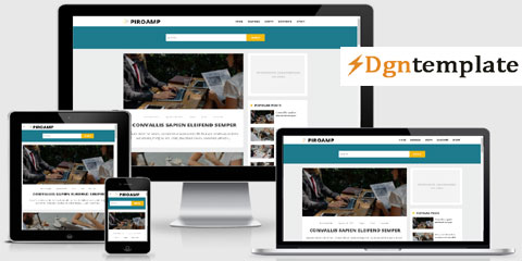 PiroAMP responsive blogger template | high quality themes