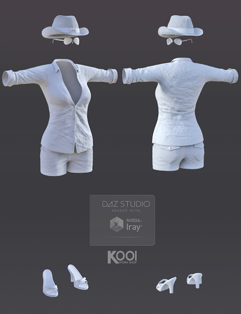 Vacation Style Set for Genesis 3 Female