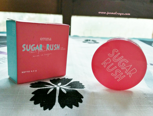 review emina sugar rush lip scrub