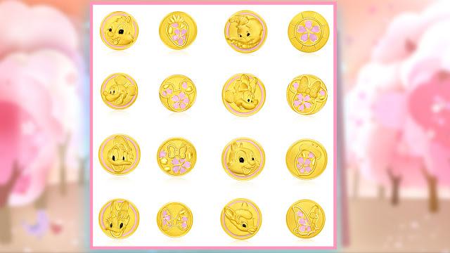 周大福迪士尼經典系列足金串飾 櫻花首飾 鋼牙與大鼻足金工串飾 幸福花願 Disney's ChipnDale Boxingpromotionshk