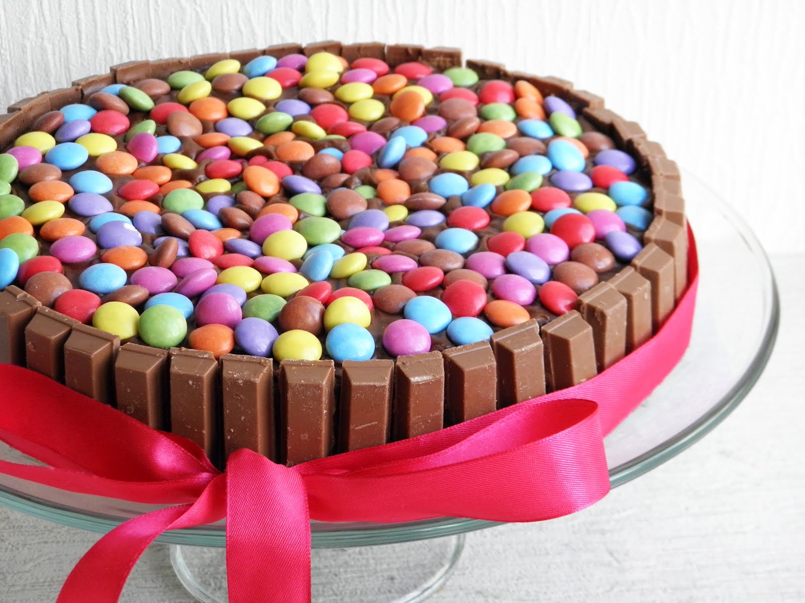 Smartie Cake With Chocolate Fingers