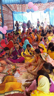 121 Females Together Perform Ganesh Poja Uttar Pradesh