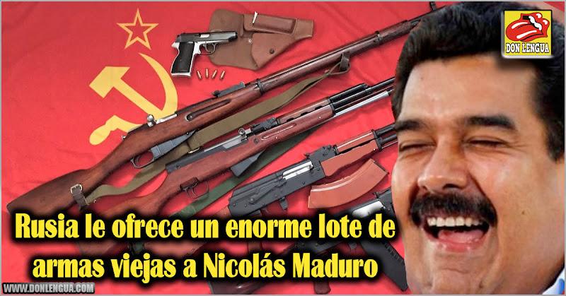 Rusia le ofrece un enorme lote de armas viejas a Nicolás Maduro