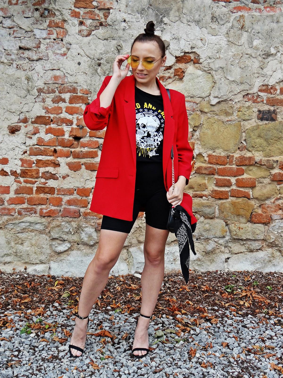 kolarki bonprix 30 lat karyn urodziny czerwona marynarka szpilki blog modowy