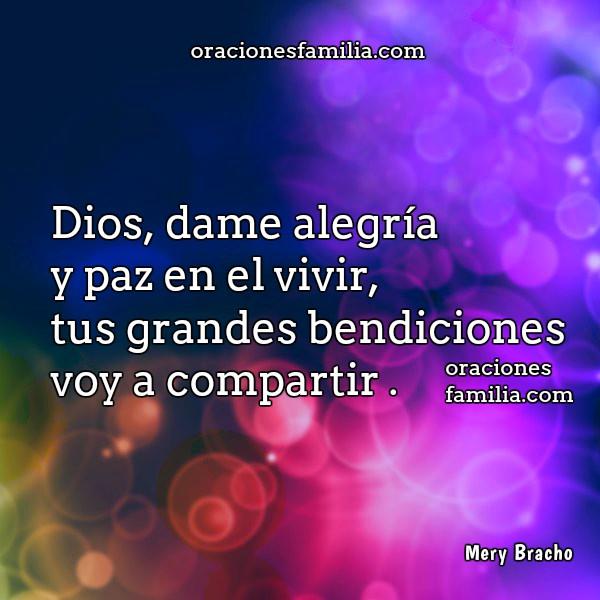 Oración cristiana corta de buenos días, frases de buenos días, imágenes con oraciones para la mañana por Mery Bracho.