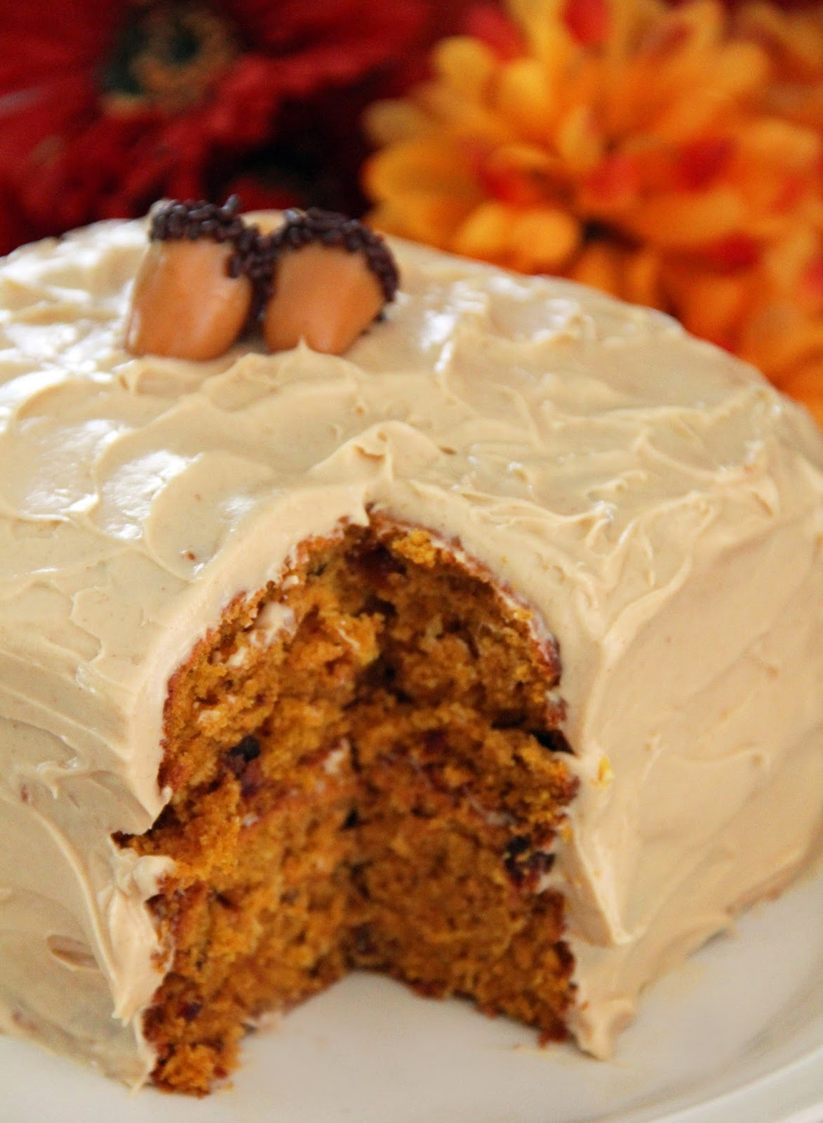 Jo and Sue: Fall Harvest Cake With Browned Butter Cream ...