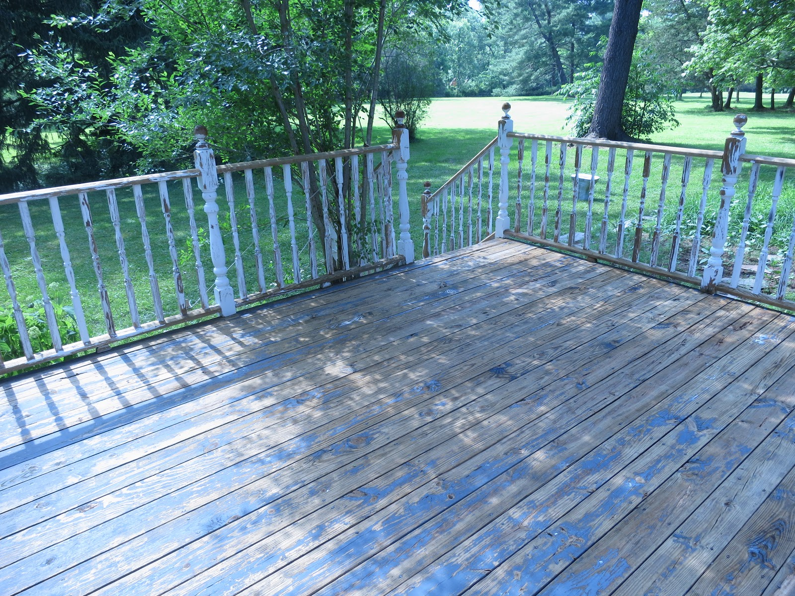 An Old Farm Power Washing The Deck